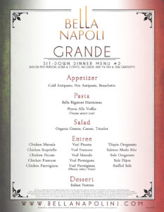 Grande Menu (Great)