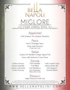 Miglore Menu (Best)